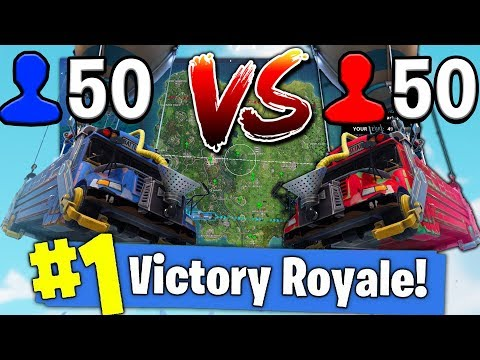 *NEW* 50 VS 50 V2! TWO BATTLE BUSES IN GAME!? (Fortnite Battle Royale)