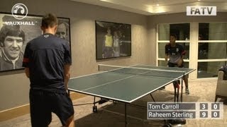 Raheem Sterling vs Tom Carroll in the England U21s' Table Tennis Challenge