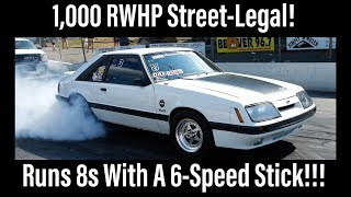1,000 RWHP! Street-Legal Twin Turbo 8-Second 6-Speed Foxbody Mustang GT!!!