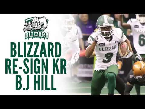 Blizzard Re-Sign B.J Hill