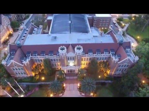 Sunset drive through Florida State University