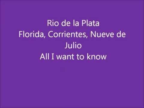 Glee - Buenos Aires - Lyrics