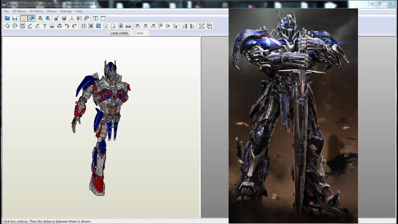 Transformers AoE Optimus Prime Armor - Pepakura Files