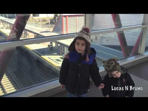 Lucas N Bruno Watching Transit Trains at Hamilton Station New Jersey