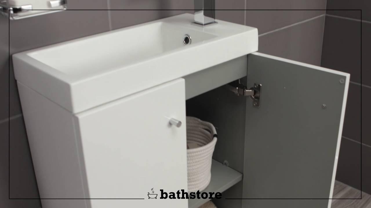 Alpine Duo 495 basin and floorstanding vanity unit - YouTube