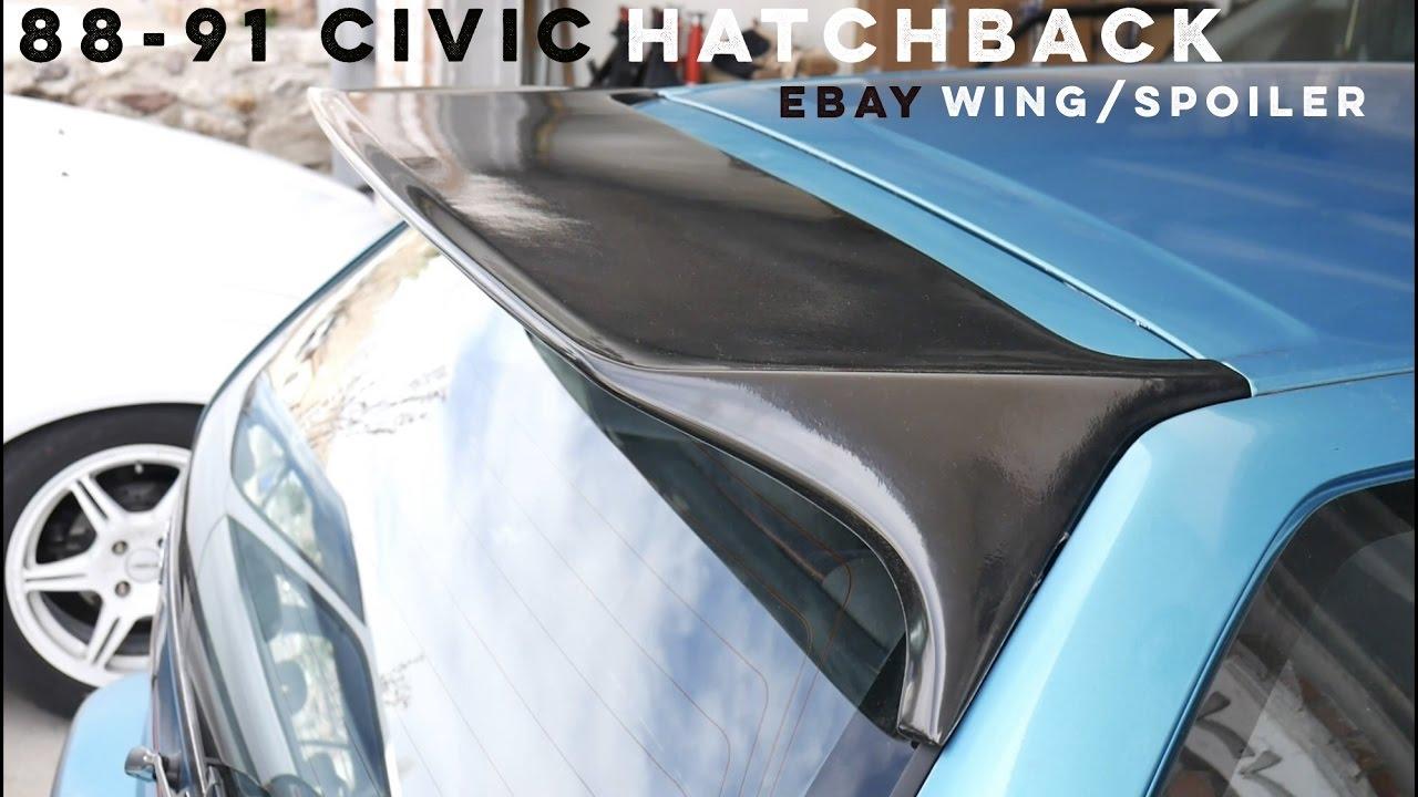 88 91 Ef Civic Hatchback Wing Spoiler From Ebay Youtube Wiring Diagram Honda B16a Garage Built Hondas