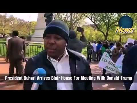President Buhari Arrives Blair House For Meeting With Donald Trump