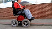 Инвалидная коляска с электроприводом «Rocket». - YouTube