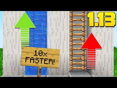 Minecraft 1.13 WATER LOG MECHANIC TIPS AND TRICKS!