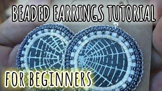 Beaded Earrings Tutorial for beginners