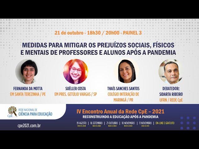 IV Encontro Rede CpE 2021: Medidas para mitigar os prejuízos de professores e alunos após a pandemia