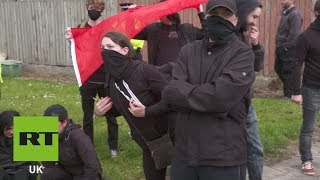 Tommy Robinson protesters clash in Liverpool