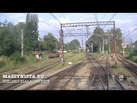 [CabView] Bielsko-Biała - Rybnik (stacje + prędkość)