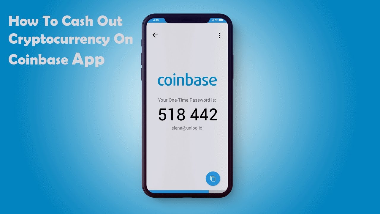 cashing out on coinbase