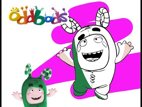 ODDBODS ZEE Coloring for Kids and Toddlers - Easy Coloring Pages for Children
