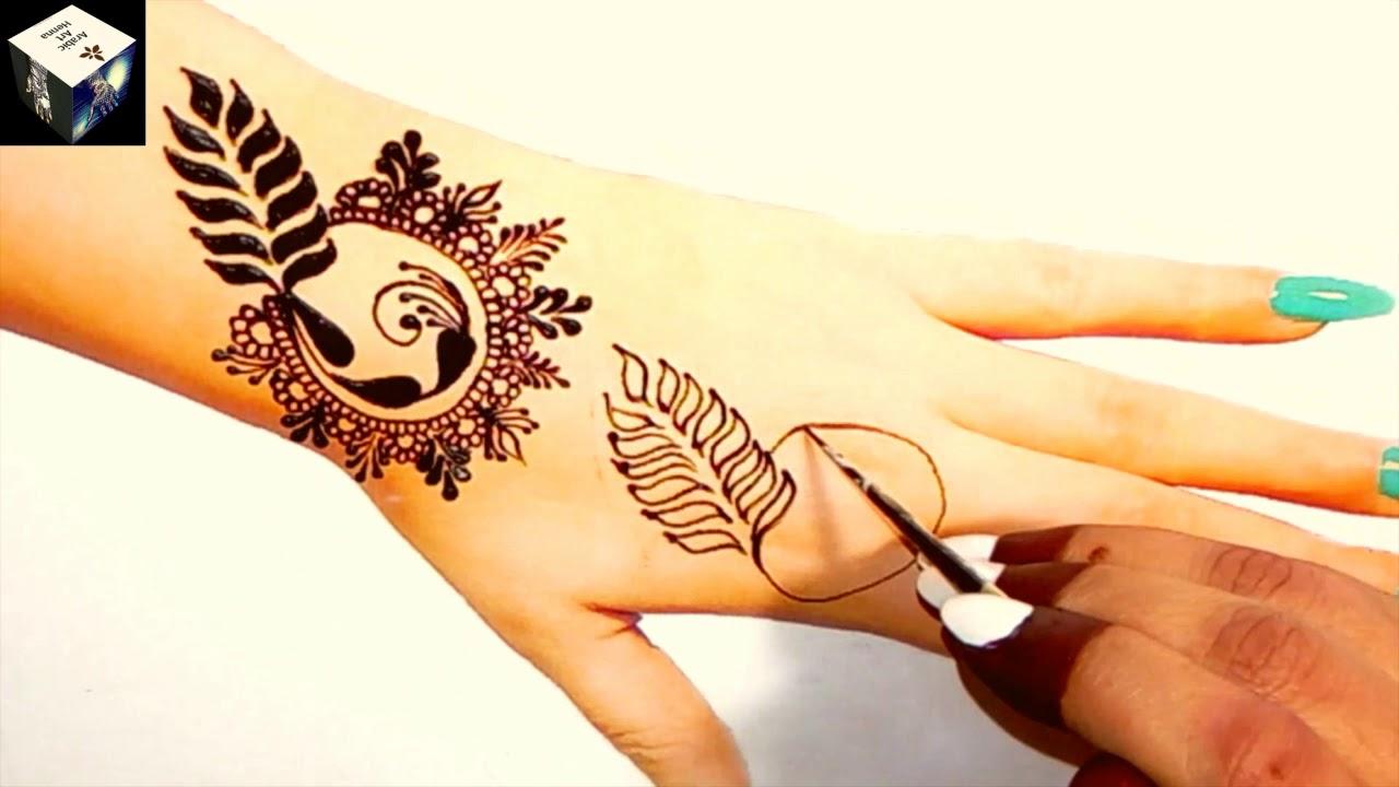 Stylish Easy Gulf Flower Mehndi Design for Hand Simple Easy Mehndi Design  Arabic Art Henna