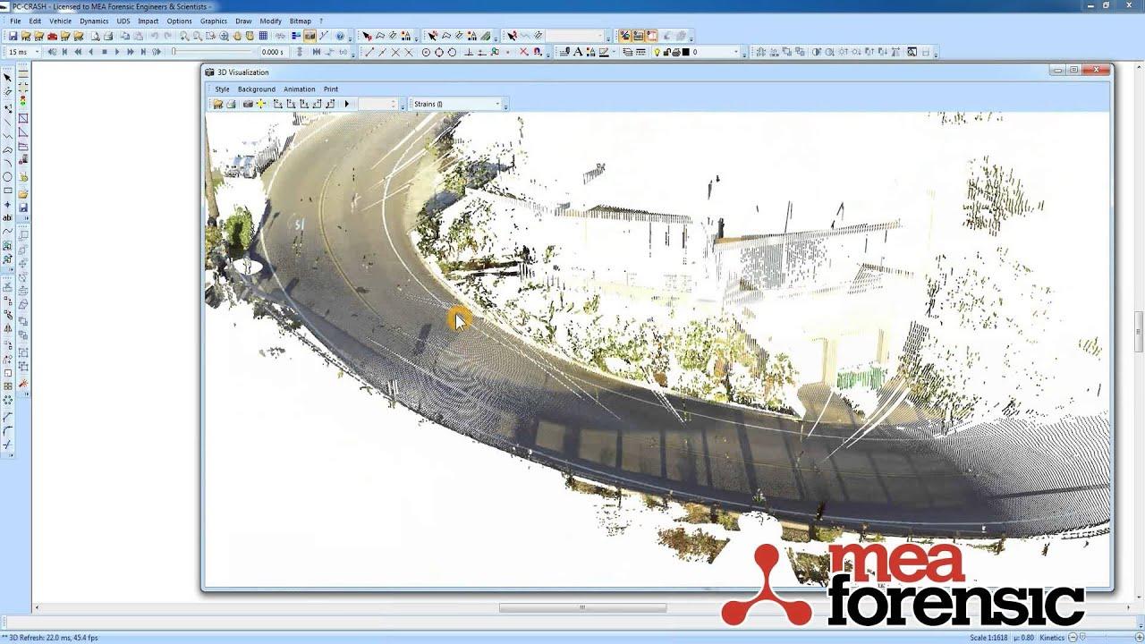 PC-Crash 10 0: Point cloud scene