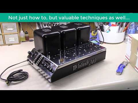 McIntosh MC240 Amplifier Full Restoration and Recap in Detail