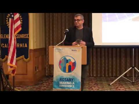 Professor Patrick Shahnazarian talks to Rotary about solar energy systems for the home.