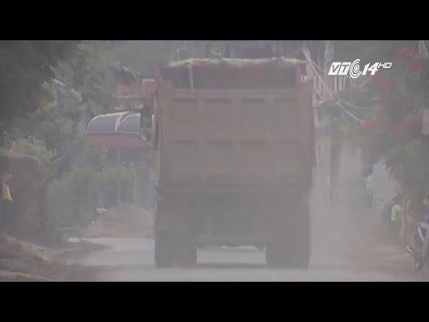(VTC14)_Xe tải hạng nặng tung hoành ở Quốc Oai