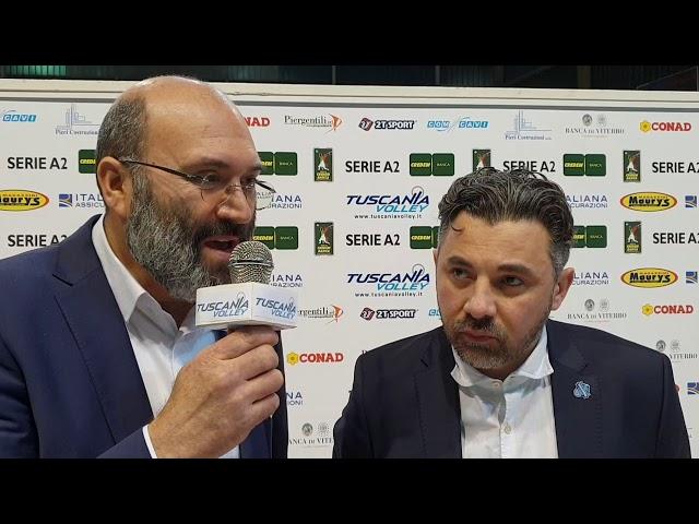 Interviste post Partita Maury's Italiana Assicurazioni TUSCANIA VS  Sieco Service ORTONA