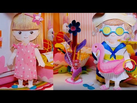 Baby Paper Doll Dress Play_Doll House Room/changing hair style_hot summer look