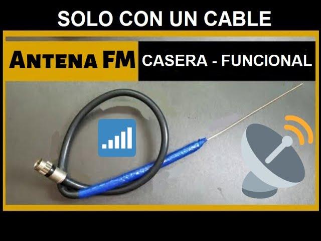 ANTENA CASERA para RADIO FM | Antena HD | ANTENA PARA RADIO hecha con solo  1 cable | Fácil y rápida - YouTube