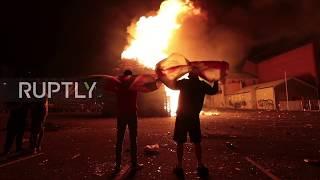 UK: Eleventh night bonfires and disturbances in Belfast