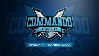 Adobe Illustrator Speed Art | Logo Design Tutorial | Sports Logo | Gaming Logo