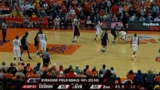 Connecticut v. Syracuse - 2010 Feb. 10 - Last 6 Minutes