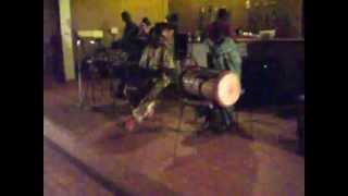 Will soundchecks the kora for his teacher's band Dialyco, Bamako Mali 5/27/10