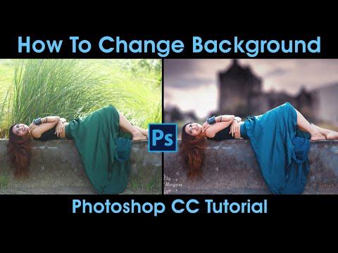 How To Change Background In Photoshop CC Tutorial #Rajkumar Noyon#কিভাবে ছবির পিছনে পরিবর্তন করবেন thumbnail