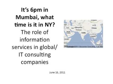 The role of information services in global/IT consulting companies (6/16/2011)