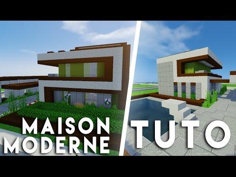Minecraft tuto construction maison moderne en 17x17 doovi for Tuto maison moderne nox x