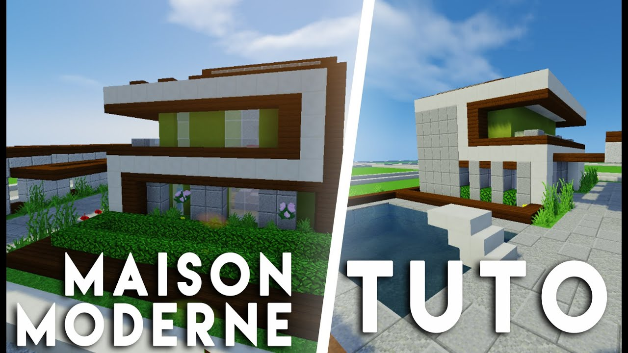 Minecraft tuto construction d 39 une maison moderne 12x12 youtube for Construction maison moderne
