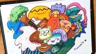 DIY Kawaii Fantasy Doodle - How to draw a cute doodle  \ Come disegnare disegni kawaii