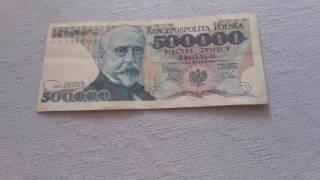 Stare banknoty#13 500 000 zł z 1990 roku
