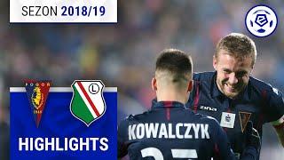 Pogoń Szczecin - Legia Warszawa 2:1 [skrót] sezon 2018/19 kolejka 15