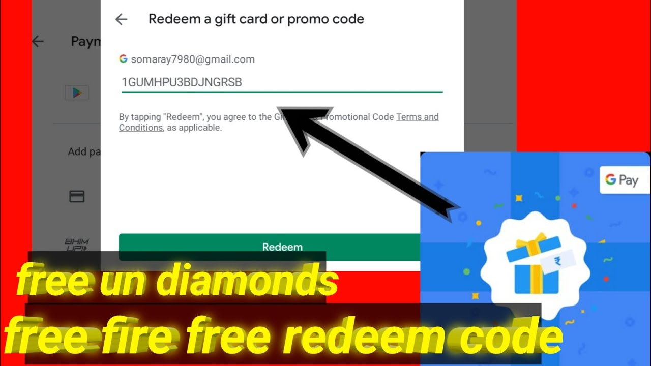 Free Fire Free Redeem Code Free Fire Free Top Up Youtube
