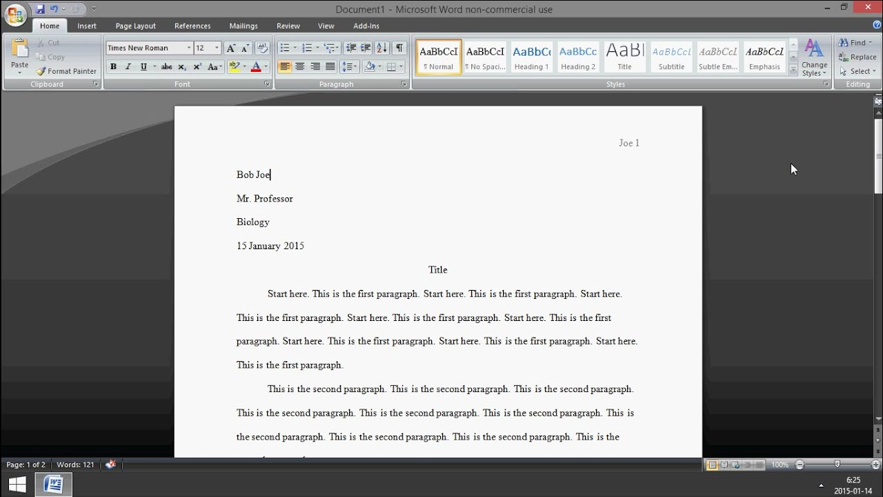 microsoft word  how to set up mla format 2015