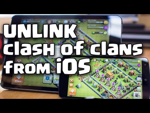 How to Unlink Clash of Clans from iOS iphone iPad