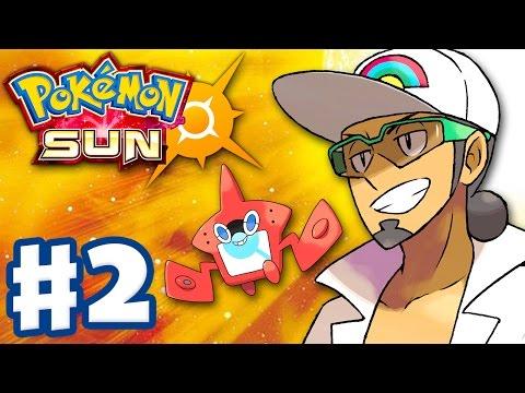 Pokemon Sun And Moon - Gameplay Walkthrough Part 2 - Iki Town Festival! Rotom-dex! (Nintendo 3DS)