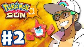 Pokemon Sun and M๐on - Gameplay Walkthrough Part 2 - Iki Town Festival! Rotom-dex! (Nintendo 3DS)