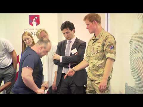 Prince Harry visits Macquarie University Hospital