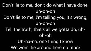 Lena  don39;t lie to me LYRICS