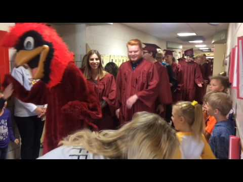 Davison High School seniors walk through elementary school in new tradition from YouTube · Duration:  2 minutes 20 seconds