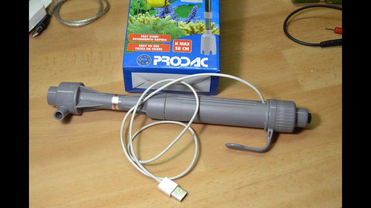 tutorial fai da te sifone per acquario usb senza batterie