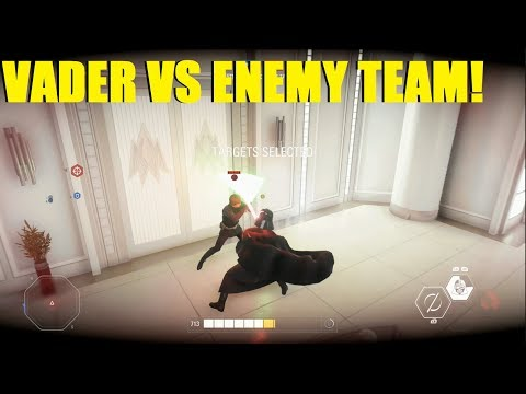 Star Wars Battlefront 2 - Darth Vader fighting the whole team! Vader REALLY Hates Finn XD thumbnail