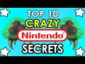 Top 10 CRAZIEST Nintendo Secrets Ever Found