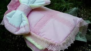Одеяло конверт для девочки на выписку и каждый день